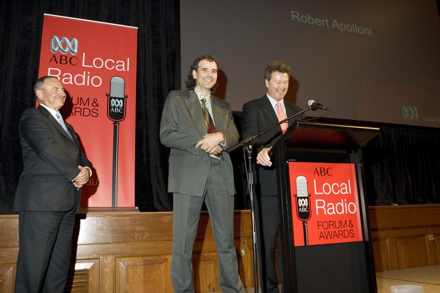 Local Radio Awards: Maurice Newman, Robert Apolloni and Mike McGowan